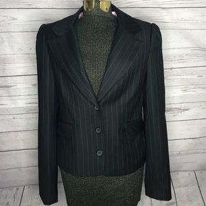 Juicy Couture Gray Pinstriped Blazer F1-102